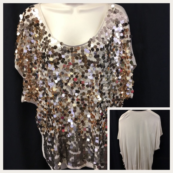 b3581c71 Apt. 9 Tops | Apt 9 Gold Sequin Top Size Large Cocktail Party | Poshmark